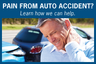 We can help the pain if you have been injured in an auto accident.